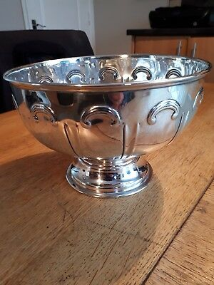 Epns  art nouveaux punch bowl / fruit bowl
