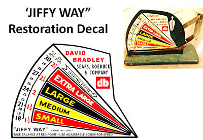 JIFFY WAY ANTIQUE EGG SCALE Sears RESTORATION  DECAL