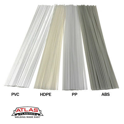 Plastic Welding Rods-40ft, 40pk Variety-PVC HDPE ABS PP (12in x 3mm Natural)