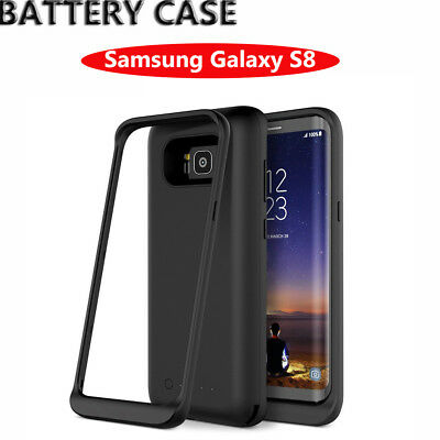 For Samsung Galaxy S8 5000mAh Battery Charger Case Backup Power Bank Cover Black