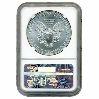 2015, Silver Eagle S$1,  NGC  MS69,  Early Release Blue Label C7493