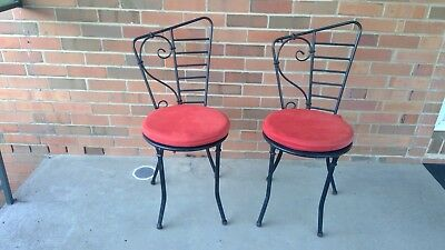 2 Wrought Iron Chairs  : Exc Condition    Indoor Outdoor Furniture Patio Deck