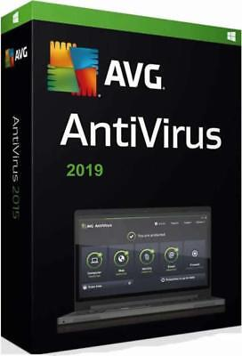 AVG AntiVirus 2019 - 1 PC or Laptop & for 1 year - OFFICIAL DOWNLOAD VERSION
