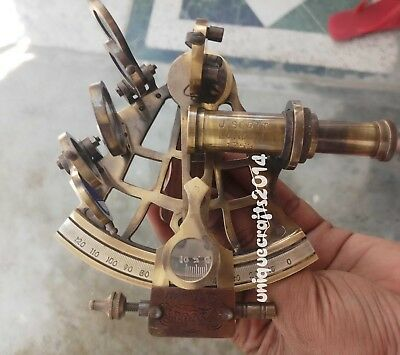 "5"" Nautical Sextant Solid Brass Working Royal Collective Ship Astrolabe Sextant."