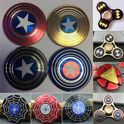 Hand Spinner Fidget Spinner Focus Toy ADHD Autism EDC Captain America Shield ❤