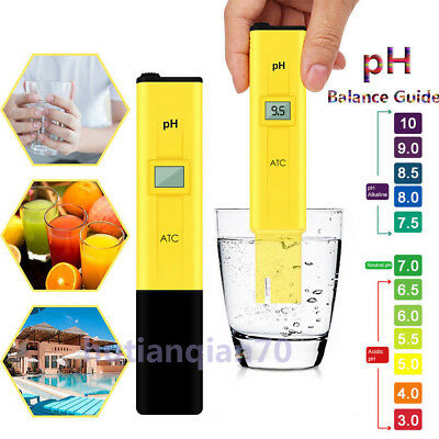 Electric Digital PH Meter Tester Pocket Water Hydroponics Aquarium Pool Test Pen