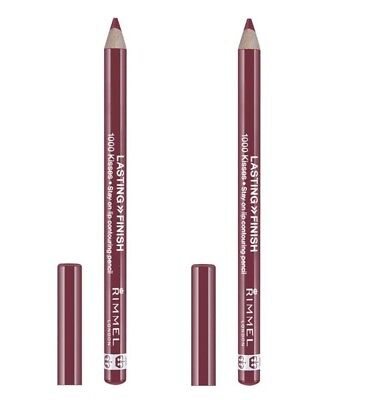2 x RIMMEL LIP LINER STAY ON LIP CONTOURING PENCIL 1000 KISS 014 WILD CLOVER