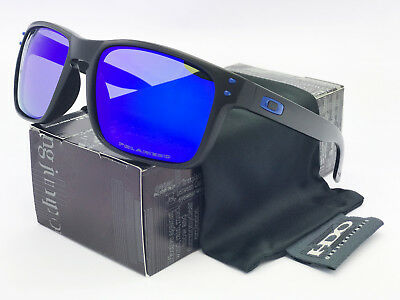 2018!Sunglasses Polarized Holbrook Matte Black/Blue Mercury Iridium