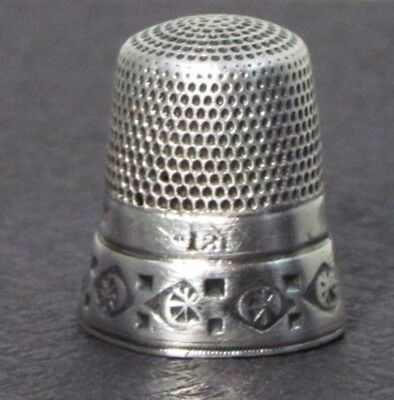 Vintage Carved Victorian Silver Sewing Thimble Mark 12
