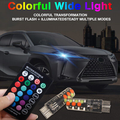 8182 E0F1 A85B Car Dashboard Light COB T10 W5w Car Side Light RGB Beads Durable