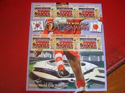 Liberia - 2002 World Cup 26 - Minisheet - Unmounted Mint Miniature Sheet