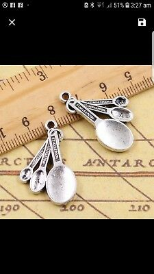 Miniature dolls house accessories 1:12th scale miniature Metal Measuring Spoons