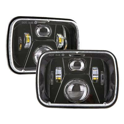 DOT 110W 5x7 Led Headlights 7x6 Hi/Low Beam Headlamp for Jeep Wrangler Cherokee