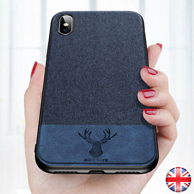 Shockproof Soft TPU Fabric Leather Case Slim Hybrid Back Cover For iPhone XS Max