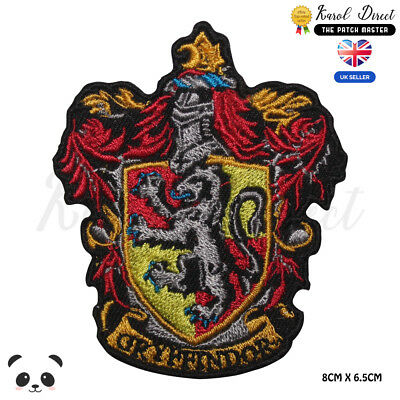 Harry Potter Gryffindor Embroidered Iron On Sew On PatchBadge For Clothes etc