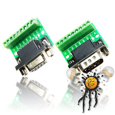 RS232 UART serial Schraub- Screw Adapter DB9 female/male Null-Modem Arduino