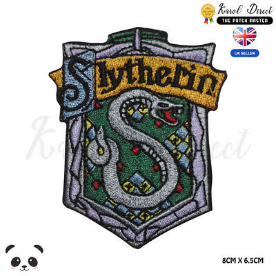 Harry Potter Slytherin Embroidered Iron On Sew On PatchBadge For Clothes etc