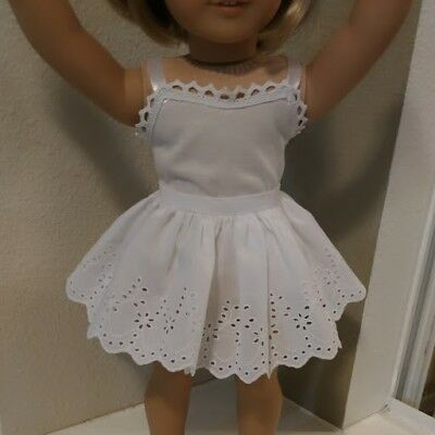 Fits 18 inch AMERICAN GIRL DOLL ~ DOLL CLOTHES ~ WHITE  PETTICOAT SLIP   4871
