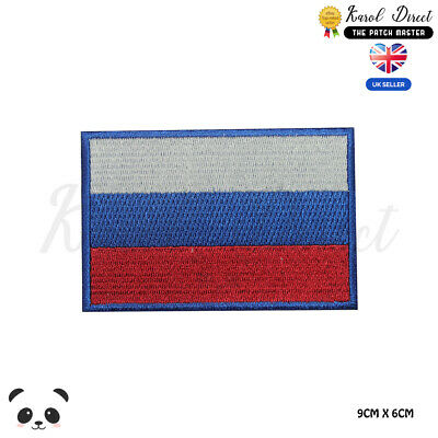 Russia National Flag Embroidered Iron On Sew On Patch Badge For Clothes etc
