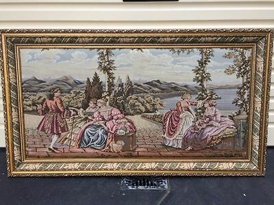 Antique Tapestry Picture Frame
