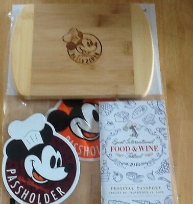 Disney Mickey Mouse Cutting Board Epcot Food and Wine Festival 2018
