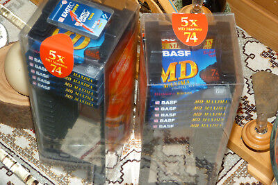 "10  BASF MD74  - MiniDisc + 2x Home Archiv  ""NEU in OVP "" -  Sealed and unused !"
