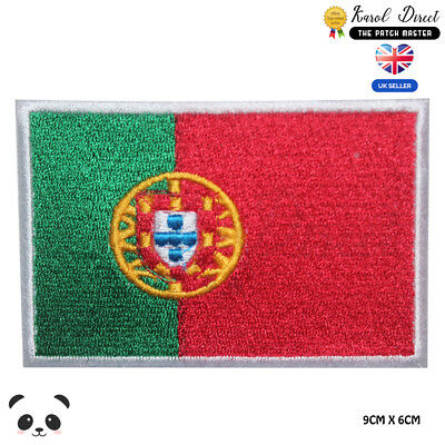 Portugal National Flag Embroidered Iron On Sew On Patch Badge For Clothes etc