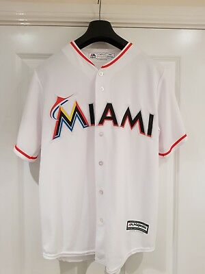 Majestic Athletic MLB Miami Marlins Cool Base Home Jersey