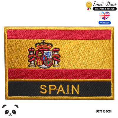 Spain National Flag Embroidered Iron On Sew On PatchBadge For Clothes etc
