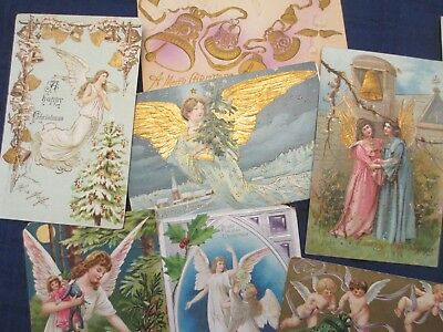 Lot of 24 Vintage- Early 1902's Holiday  Angels Postcards Christmas / Easter