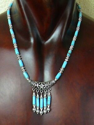(aB1311)   Handmade Natural persian Turquoise Necklace