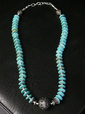 (aB1312)   Handmade Natural persian Turquoise Necklace