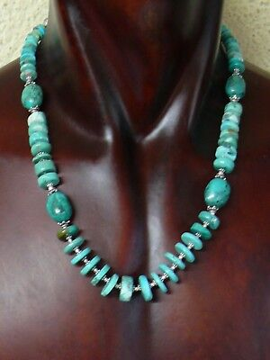 (aB1313)   Handmade Natural persian Turquoise Necklace