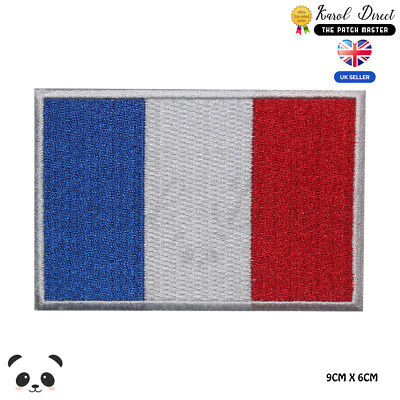 France National Flag Embroidered Iron On Sew On Patch Badge For Clothes etc