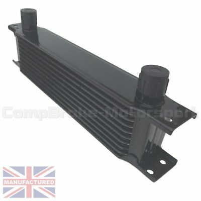 Universal 10 Row An10 An-10 10An Engine Transmission Oil Cooler [Radiator] Black