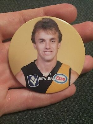 Bary Rowlings Richmond VFL Player Badge AFL 70s 80s