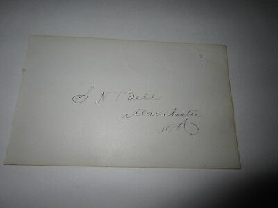 Samuel N. Bell autographed album page-Rep from Ohio