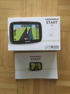 TomTom Start 40 Navigationsgerät (4,3 Zoll) Europakarte Lifetime Maps Navi