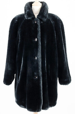 Manteau Long En Fausse Fourrure Noir Femme T.38 Black Long Coat For Woman S c8f3061a1f7