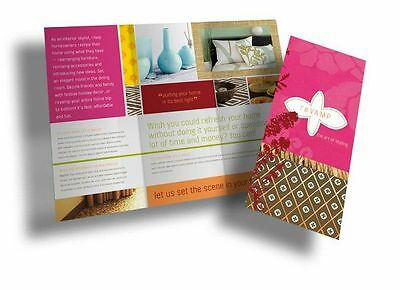 1000 Glossy Full Color Brochure Printing, Free Folding