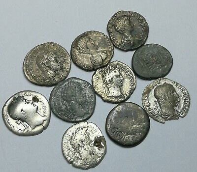 Ancient Roman Republic & Imperial Silver Denar Coins LOT - 10 pieces SEE PICTURE