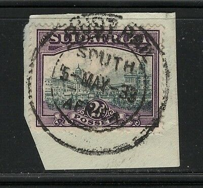 Union of South Africa Postmark Rust Rail Cape 05.05.1933 on small piece