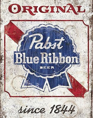 """Pabst Blue Ribbon Old"" Beer Metal Store Pub Brew Shop Bar Pub metal 8 x 12 sign"