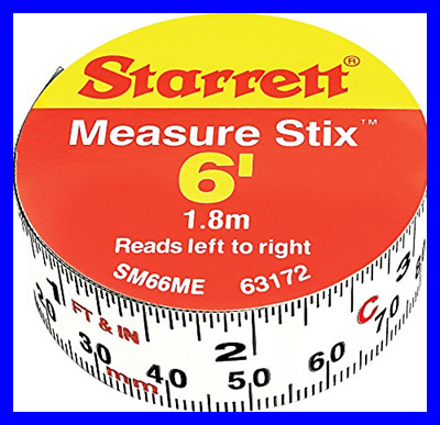 """SM66ME Adhesive Tape Measure 3/4"""" Width 6' Length WHITE FREE SHIPPING"""