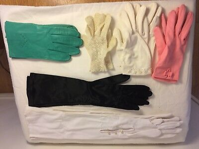 Lot Of Vintage Gloves 6 Pairs