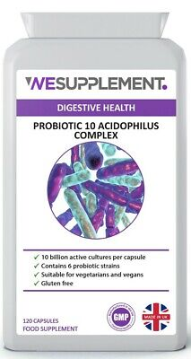 Probiotic 10 Lactobacillus Acidophilus 10 Billion CFU x 120 Capsules