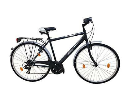 (TG. L) F.lli Schiano Urban 28, City Bike Unisex-Adulto, Nero, L - NUOVO