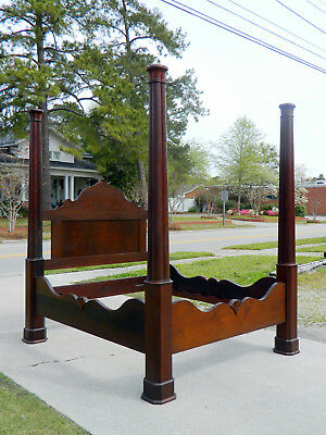 American Empire Tall Post Bed