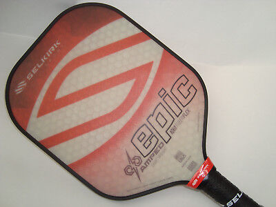 Selkirk Amped X5 Epic Pickleball Paddle  Lightweight  Fiber Flex  Ruby Red
