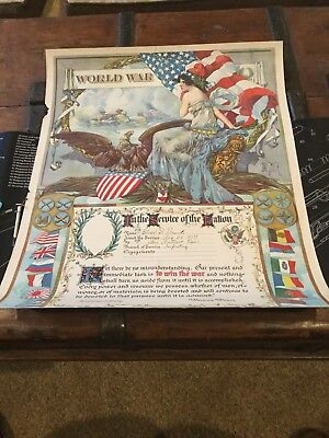 WW1 In The Service Of Our Nation Certificate